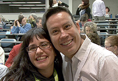Janni Aragon and presenter Raul Pachero at WordCamp Victoria 2012 - Victoria BC Video Production - Best Color Video
