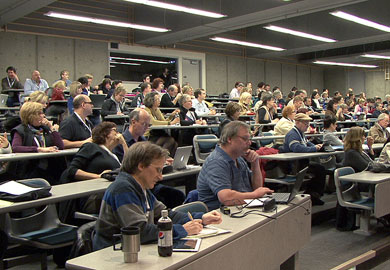 300 persons attend Word Press Word Camp 2012 at University of Victoria BC - Best Color Video Victoria BC video production